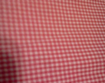 1 yard Red Gingham Fabric