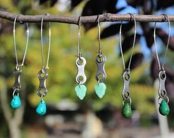 Recycled Bike Chain Earrings!