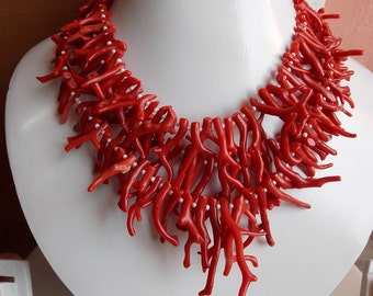 """ITALIAN CORAL 1.Strand 12"""" Natural Stick Rough Beads 40x4 To 10x3 mm approx 100% Natural Awesome AAA Quality Discounted Price"""