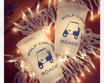 Golf Cart Roadie Cups! Palm or lime Green Clubs.