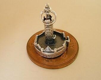 Sterling Silver Scottish Bonnie Prince Charlies Glenfinnan Monument Charm