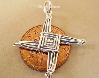 Sterling Silver St Brigid Cross Charm Pendant