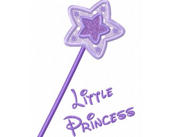 Little Princess Wand Applique Machine Embroidery DESIGN  N0. 28