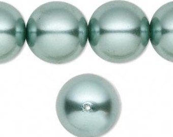 Czech Glass Pearls - Teal - 2 Sizes