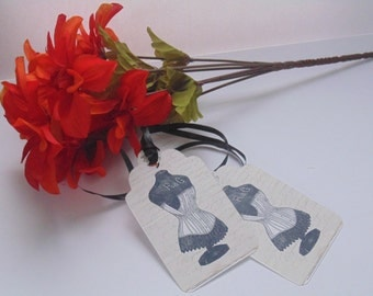 Vintage Style Hang Tags Gift Tags Set of 12