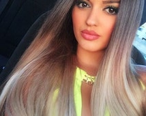 Ombre Balayage Human Halo Hair Extensions  Flip In Wire Couture    Colour  Light Brown  Ash Blonde Colour