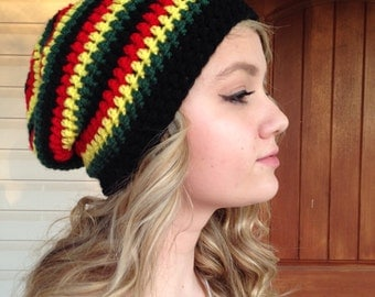 Slouchy Jamaican Rasta Beanie Made to Order