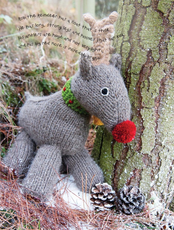 Rob the Reindeer Toy Knitting Pattern Download 803767