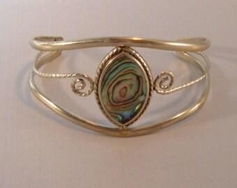 Vintage Abolone Shell Bracelet