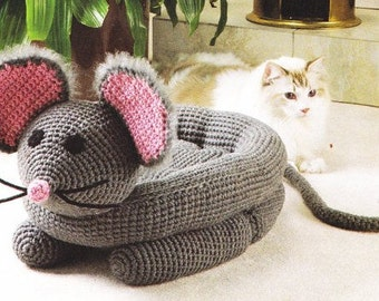 Crochet Patterns Pet Beds : Pet bed CROCHET PATTERN - Little Mo use Cat Dog Bed - English language ...