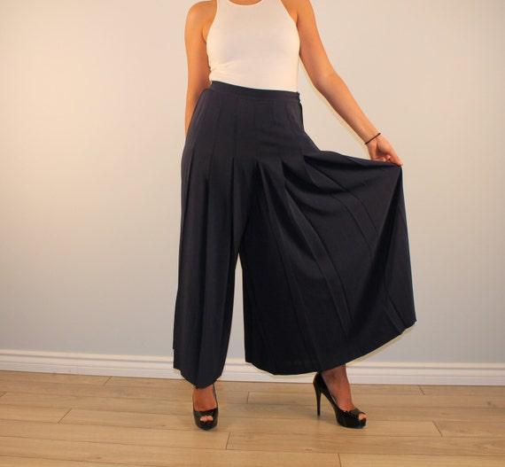 vintage jupe culotte wide palazzo pants women 39 s culottes. Black Bedroom Furniture Sets. Home Design Ideas