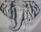 ELEPHANT Silkscreened Cotton Towel