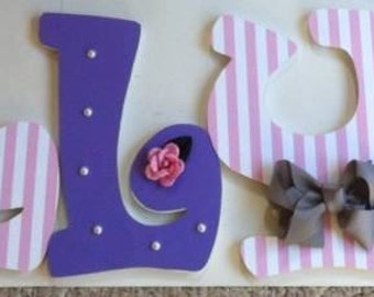 baby nursery wall letters decorative wall letters/ boy or girl/bedroom wood wall letters custom wood letters personalized letters