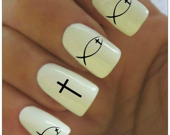 Pentacle Nail Decal 20 Water Slide Decals Fingernail Decals Nail
