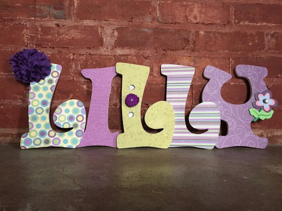 Custom Decorative Wooden Letters Wooden Names Girls Room