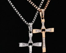 Cross necklace stainless steel cross necklace steel cross necklace Men's Solid Celtic Knot Black CZ Stainless Steel Cross Pendant Necklace