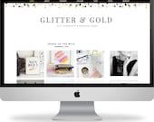Premade Wordpress Template - Instant Download - Glitter & Gold - Wordpress Template - Wordpress Theme - Blog Design -Wordpress Blog Template
