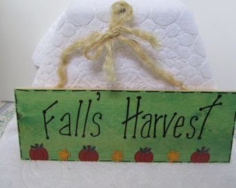 Fall Sign, Fall Harvest Sign, Thanksgiving Sign, Wood Harvest Sign, Painted Harvest Sign, Fall Decor, Thanksgiving Decor, Wood Sign,