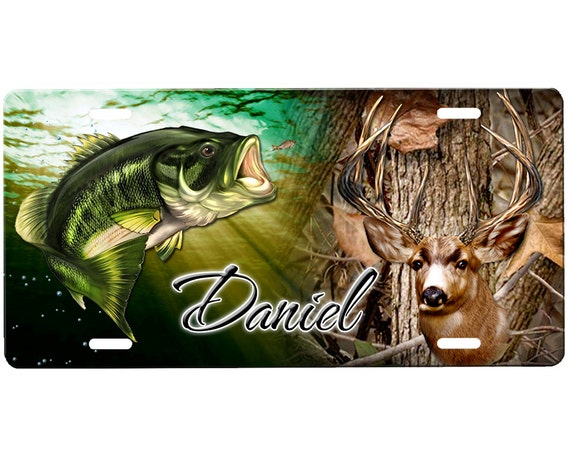 Hunting license plate by onestopairbrushshop on etsy for Fishing license illinois