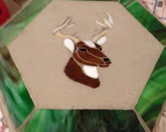 Deer head stepping stone