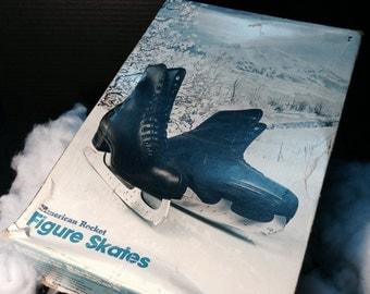 Special Price! Limited Time only! Vintage American Rocket Figure Skates  Men's Size 9 Black