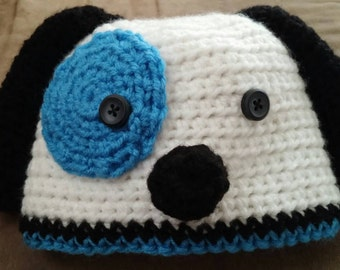 Patchy puppy hat
