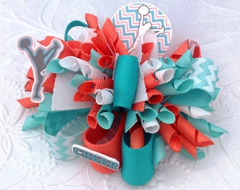 Cheer Bow, Cheer Hair Bow, Cheerleader Bow, Funky Loop Bow, Funky Bow, Over the Top Bow