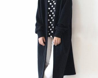 Black cashmere coat | Etsy