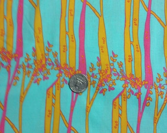 acqua background, with orange and pink trees opal owl, Tina Givens Free Spirit