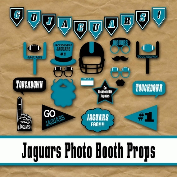 Jacksonville Jaguars Football Printable Photo Booth Props