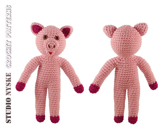 First birthday girl gift amigurumi pig PATTERN by StudioNyske