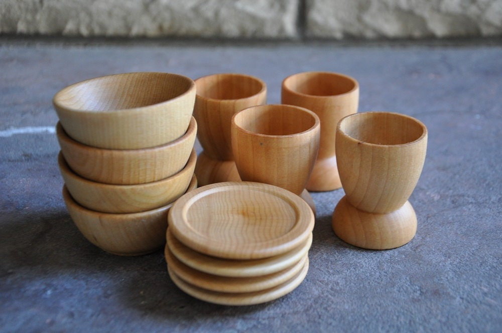 Play Kitchen Dishes wooden toy dishes a waldorf and montessori inspired pretend