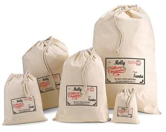 Personalised From Santa Gift Bags & Santa Sacks