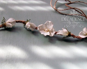 Floral Tieback Crown, Headband, Photography Prop, Maternity Crown