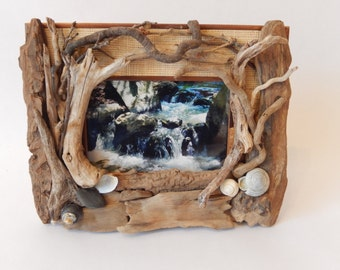 driftwood frame with st louis botanical garden streamfree shipping
