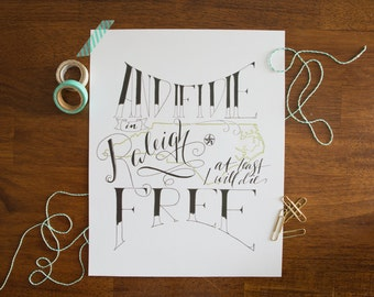 The Raleigh Print - Hand-Lettered Art Print