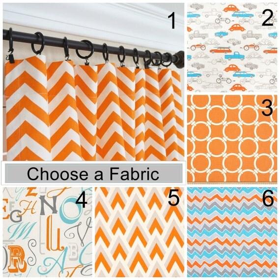 orange vorhang paneele orange aqua blau gardinen kinderzimmer - Kinderzimmer Orange Blau