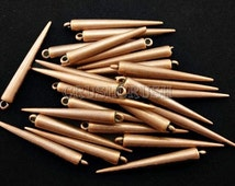 """FREE SHIPPING -- 25pcs 2"""" (52mm) Copper Basketball Wives Spikes Charms Pendants Beads X50"""