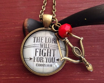 The Lord will Fight for You Pendant necklace