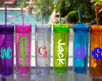 16oz Tall Skinny Tumblers (Monogrammed/Personalized)