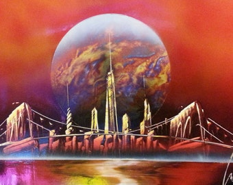 Street NYC - Spray Paint Art - Space Painting