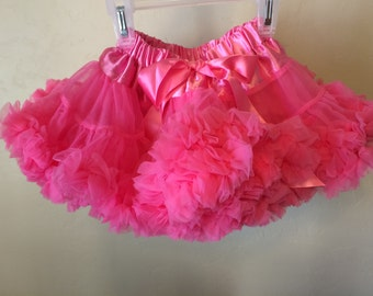 Baby Toddler Girls Pink Princess Pettiskirt Tutu Ballet Skirt Fluffy Party Dress