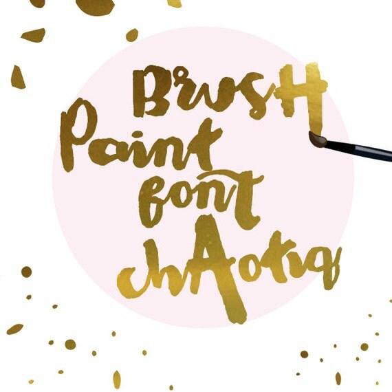Paintbrush Font Modern Calligraphy Font