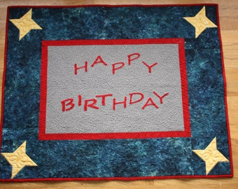 Happy Birthday Banner Quilt PDF Pattern