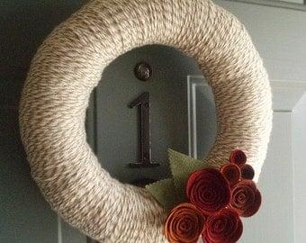 Spring Rolled Flower Wreath