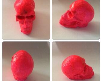 1 Inch Hand Painted Plaster Skulls