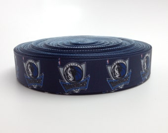 7/8 Dallas Mavericks Grosgrain Ribbon