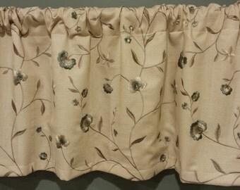 "Clearance Curtain Valance - One Lined Curtain Valance. 50"" x 16""  Window treatments"