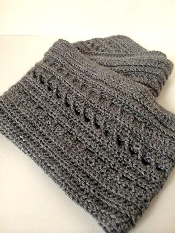 Crochet Scarf Pattern - Backwoods Boyfriend Scarf - 2-in-1 ...