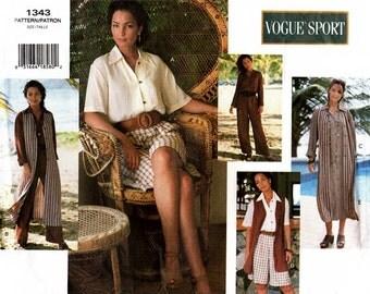 Vogue 1343 Island Vacation Dress, Jumpsuit & Vest 1995 / SZ6-10 UNCUT